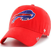 '47 Women's Buffalo Bills Sparkle Clean Up Red Adjustable Hat