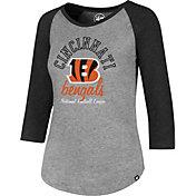 '47 Women's Cincinnati Bengals Club Grey Raglan T-Shirt