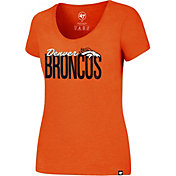 '47 Women's Denver Broncos City Script Orange T-Shirt