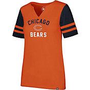 '47 Women's Chicago Bears City Sleeve Stripe Orange T-Shirt