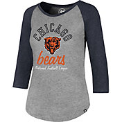 '47 Women's Chicago Bears Club Grey Raglan T-Shirt