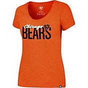 '47 Women's Chicago Bears Foil Orange T-Shirt