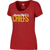 '47 Women's Kansas City Chiefs Foil Red T-Shirt