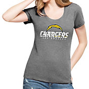 '47 Women's Los Angeles Chargers L.A. Club Grey T-Shirt