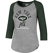 '47 Women's New York Jets Club Grey Raglan T-Shirt