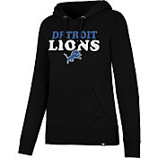 '47 Women's Detroit Lions Headline Black Pullover Hoodie