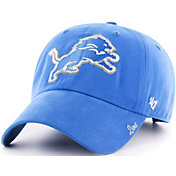 '47 Women's Detroit Lions Sparkle Clean Up Blue Adjustable Hat