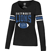 '47 Women's Detroit Lions Club Stripe Long Sleeve Shirt