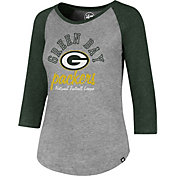 '47 Women's Green Bay Packers Club Grey Raglan T-Shirt