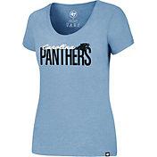 '47 Women's Carolina Panthers Foil Blue T-Shirt