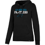 '47 Women's Carolina Panthers Headline Charcoal Pullover Hoodie