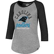 '47 Women's Carolina Panthers Club Grey Raglan T-Shirt