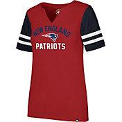 '47 Women's New England Patriots City Sleeve Stripe Red T-Shirt