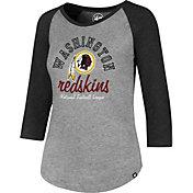 '47 Women's Washington Redskins Club Grey Raglan T-Shirt