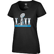 '47 Women's Super Bowl LII Club Black Scoop Neck T-Shirt
