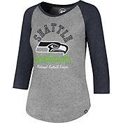 '47 Women's Seattle Seahawks Club Grey Raglan T-Shirt