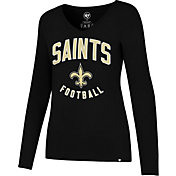 '47 Women's New Orleans Saints Team Football Black Long Sleeve Shirt