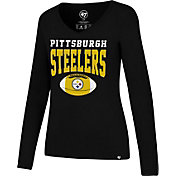 '47 Men's Pittsburgh Steelers Splitter Black Long Sleeve Shirt