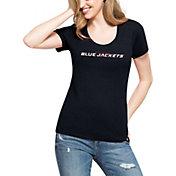 '47 Women's Columbus Blue Jackets Club Navy Scoop Neck T-Shirt