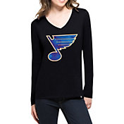 '47 Women's St. Louis Blues Splitter Navy Long Sleeve T-Shirt
