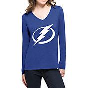 '47 Women's Tampa Bay Lightning Splitter Royal Long Sleeve T-Shirt