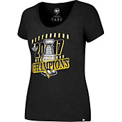 '47 Women's 2017 NHL Stanley Cup Champions Pittsburgh Penguins Scoop Neck T-Shirt