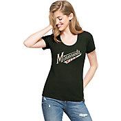 '47 Women's Minnesota Wild Green Scoop Neck T-Shirt