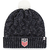 '47 Women's USA Crest Navy Pom Knit Beanie