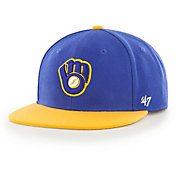 '47 Youth Milwaukee Brewers Lil' Shot Captain Royal Adjustable Snapback Hat