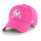 '47 Youth Girls' Miami Marlins Basic Pink Adjustable Hat