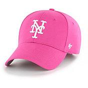 '47 Youth Girls' New York Mets Basic Pink Adjustable Hat