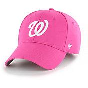 '47 Youth Girls' Washington Nationals Basic Pink Adjustable Hat