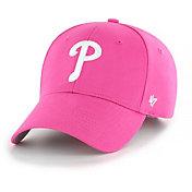 '47 Youth Girls' Philadelphia Phillies Basic Pink Adjustable Hat