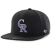 '47 Youth Colorado Rockies Lil' Shot Captain Black Adjustable Snapback Hat