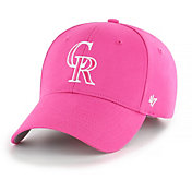 '47 Youth Girls' Colorado Rockies Basic Pink Adjustable Hat