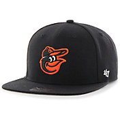 '47 Youth Baltimore Orioles Lil' Shot Captain Black Adjustable Snapback Hat