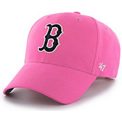 '47 Youth Girls' Boston Red Sox Basic Pink Adjustable Hat