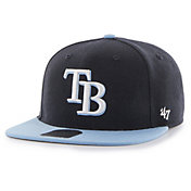 '47 Youth Tampa Bay Rays Lil' Shot Captain Navy Adjustable Snapback Hat