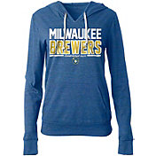 5th & Ocean Women's Milwaukee Brewers Tri-Blend Pullover Hoodie
