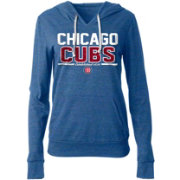 5th & Ocean Women's Chicago Cubs Tri-Blend Pullover Hoodie