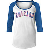 5th & Ocean Women's Chicago Cubs Three-Quarter Sleeve Shirt