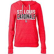 5th & Ocean Women's St. Louis Cardinals Tri-Blend Pullover Hoodie