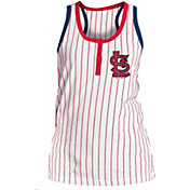 5th & Ocean Women's St. Louis Cardinals Pinstripe White Tank