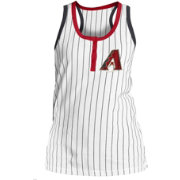 5th & Ocean Women's Arizona Diamondbacks Pinstripe White Tank