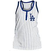 5th & Ocean Women's Los Angeles Dodgers Pinstripe White Tank