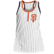 New Era Women's San Francisco Giants Pinstripe White Tank