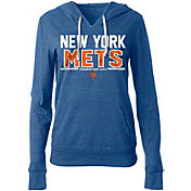 5th & Ocean Women's New York Mets Tri-Blend Pullover Hoodie