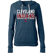 5th & Ocean Women's Cleveland Indians Tri-Blend Pullover Hoodie