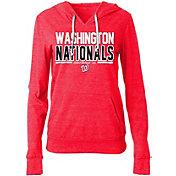 5th & Ocean Women's Washington Nationals Tri-Blend Pullover Hoodie