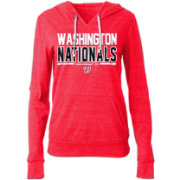 New Era Women's Washington Nationals Tri-Blend Pullover Hoodie